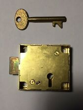 * NEW* N.O.S. Original Gamewell Fire Police Alarm Box BRASS LOCK & BRASS KEY