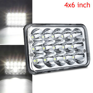 "1PC 4x6"" LED Headlight Sealed Hi/Lo Fog Light For Kenworth T800 T400 T600 W900B"