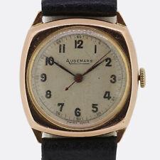Vintage 1940s Audemars Gents Wristwatch 9ct Yellow Gold