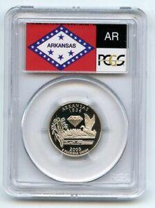 2003 S 25C Clad Arkansas Quarter PCGS PR70DCAM