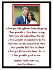 Valentines Day Personalised Photo & Poem A4 Print Boyfriend Girlfriend Gift Card