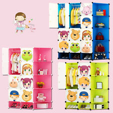 New Children Wardrobe Kids Character Design Cubes Toy Clothes Shoes Storage Box