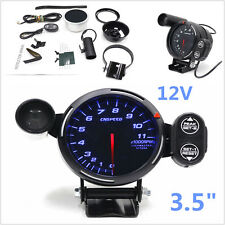 "3.5"" 12V Car Tachometer Gauge With Adjustable Shift Light+Stepping Motor RPM Kit"