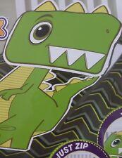 Zippy Sack Dino Fleece Twin Size Blanket NIP