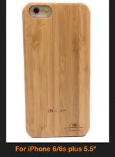 IPHONE 6/6S PLUS BAMBOO WOOD CASE REAL NATURAL WOOD HAND MADE GENUINE WOOD COVER