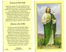 LOT of 2  ~ English / Spanish ~ Novena to St. SAINT Jude Holy Prayer Cards Card