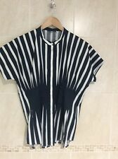 COS Ladies navy and white size 10 stripe shirt