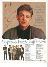 PAUL MacCARTNEY / POGUES lyrics magazine PHOTO/Poster/clipping 11x8 inches