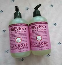Mrs. Meyer's Lot of 2 Peony Liquid Hand Soap Wash 12.5oz/370ml Each NEW