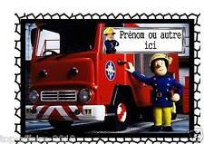 Affiche / Pancarte de porte plastifié Sam le pompier 02 avec prénom
