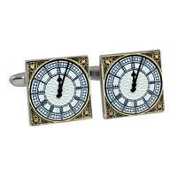 Big Ben Tower Clock Face Cufflinks Gift Box Elizabeth Palace Westminster NEW