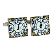 Big Ben Tower Clock Face Cufflinks Gift Box Elizabeth Palace Westminster NEW