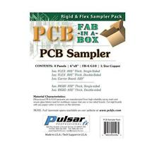 "Pulsar Pro FX Copper Clad Laminate PCB Sampler FR4  6"" x 8"" 1/2oz (4 Boards)"