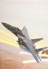 Postcard Aircraft USAF F-15E Strike Eagle - modern card / large