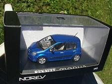 NOREV 1/43 RENAULT MODUS 2006 5 PORTES BLEU EXTREME !!