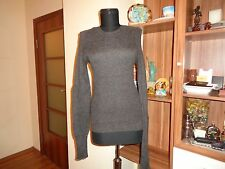ISABEL MARANT GREY SUPERKID MOHAIR BLEND KNITTED BODYSHAPING JUMPER OREO-M,10/12
