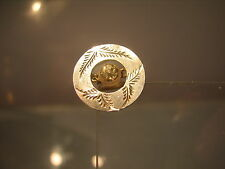 Tiny Solid silver brooch pin with floral engraved silver hallmarks 1907