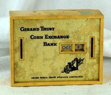 1950's Coin Bank Calendar Girard Trust Corn Exchange Bank Piggy