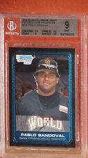 2006 Bowman Chrome Draft Pablo Sandoval Rookie Card BGS 9