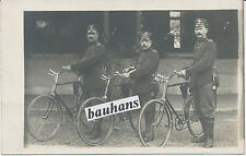 Foto Landwehr-Soldaten mit Fahrad-Bajonett (1910)