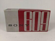 Vintage SONY TR-609 Transistor AM Radio w/ Original Box, Inserts, Leather Case
