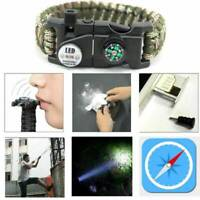 20 in 1 Emergency Survival Paracord Bracelet SOS LED Camouflage Compass Tools