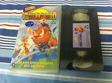 DISNEY AROUND THE WORLD WITH TIMON & PUMBAA LION KING NEW VIDEO PAL UK VHS