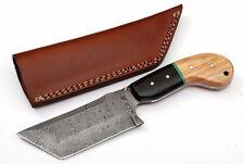 Custom Fire Twist Damascus Steel Tanto Hunting Knife Z15B
