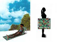 Outdoor Portable Folding Chair Beach Mat Ultra Light Fishing Chair Lounger Strap