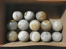 Agate Marble One Piece Around 1 1/2 Inch Natural Gemstone Banded Bullseye