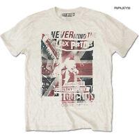 Official T Shirt SEX PISTOLS Never Mind.. Punk 100 CLUB Vintage Natural All Size