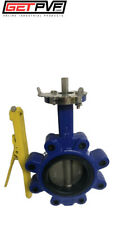"""4"""" Lug Butterfly Valve Ductile Iron Body 316 SS Disc"""