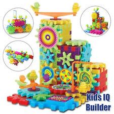 81Pcs Kids IQ Builder Construction Toy Educational Interlocking Building Blocks