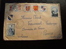 FRANCE - enveloppe 1953 (CY92) french
