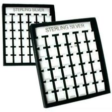 72 Earring Pads Displays Cards Showcase Parts Silver