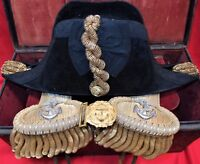 WW2 AUSTRALIAN NAVY NAMED ADMIRALS UNIFORM TRUNK RANK BOARDS HAT HMAS SYDNEY