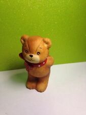 1979 Porcelain Lucy Rigg Rigglets Teddy Bear Holding Gift Behind Back Figurine