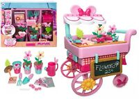 Disney Minnie Mouse Flower Cart Playset Ages 3+ Toy Play Minnie Gift Tray Coin