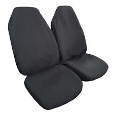 New Arrival 2pcs Polyester Throw Over Slip On Car Seat Cover Jet Black
