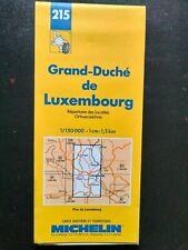 CARTE MAP MICHELIN N°215 GRAND DUCHE DE LUXEMBOURG + Localités - Ed.1994 - NEUVE
