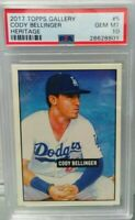 2017 Topps Gallery Heritage Cody Bellinger # 5 Rookie rc PSA 10 super hot invest