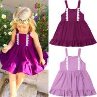 Toddler Kids Baby Girls Sleeveless Princess Party Wedding Tutu Dress Clothes