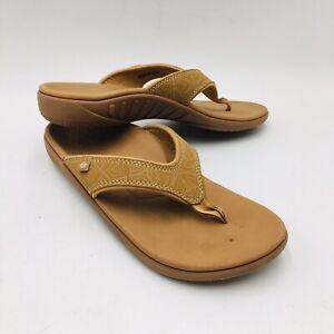 Spenco Women's Yumi Boheme Orthotic Thong Sandal Size 9, Beige