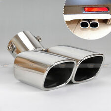 Universal CURVED Exhaust  Rear Tail pipe 32mm<End<58mm For Honda Ford Toyota