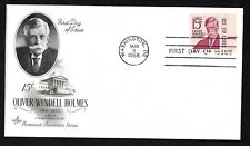 #1288 15c Oliver Wendell Holmes - ArtCraft FDC With Zip Tab