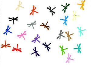 50 Aufkleber / Sticker Libelle bunt gemischt, neu