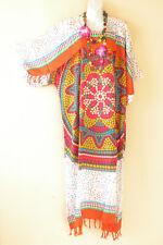 KD161 Polka Dot Caftan Kimono Sleeve Tunic Hippie Long Maxi Dress -L, XL, 1X, 2X