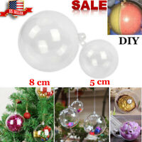 Clear Plastic Ball Ornament Bauble Xmas Tree Decor Party Home Hanging Decoration