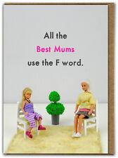 Funny Dolls F Word Mum Card Mother Mum Mummy RUDE Amusing Comedy Cheeky Humour