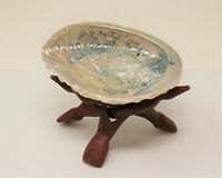 """LARGE 5"""" - 6"""" LIGHT Abalone Shell with Stand (Smudging Kit)"""